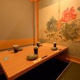 【完全個室】「癒し」×「くつろぎ」の空間。2名様から個室ご利用いただけます。