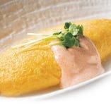 奥久慈卵の明太チーズオムレツ