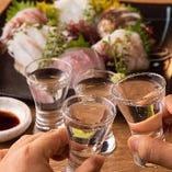 [贅沢飲み放題] コース料金+1,500円で地酒5種&焼酎5種も飲み放題