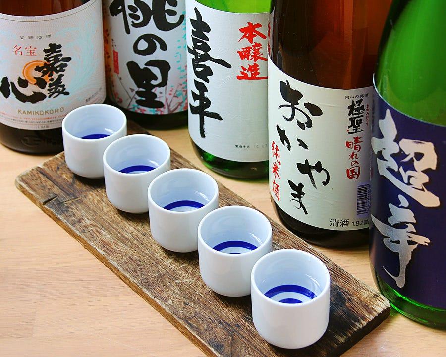 岡山の地酒、厳選5種
