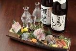 厳選日本酒。10種類以上。