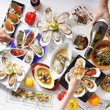 牡蠣食べ放題やランチなどの人気コースが満載