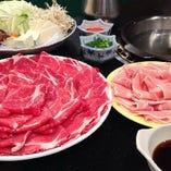 二色鍋食べ飲み放題 3900円(税込4290円)→クーポンにて3400円(税込3740円)
