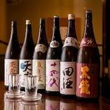 神奈川の名酒や全国各地の地酒、全25種以上。オリジナル地酒も。