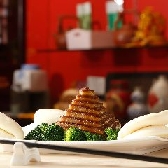 豚バラの蒸し煮 宝塔仕立て 中華パン添え