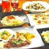 ご宴会コースは、絶品手作り料理をリーズナブルに提供!