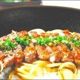 ランチメニュー!牛リブロースステーキ丼950円