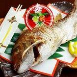 ◆ 各会席に『祝い鯛』が追加できます ◆