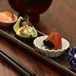 ◆前菜・・・鯵オクラ寄せ