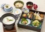 平日夜のみ 1日10食限定 ランチの「花小箱」に豆乳たっぷりの湯豆腐が付いた 湯豆腐の膳2,000円(税込)
