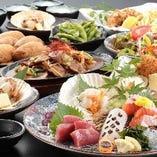 北海道の海鮮、瀬戸内の名物料理味わえるコースご用意◎