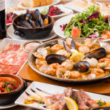 スペイン料理を楽しめるコース各種(飲み放題付)4000円~