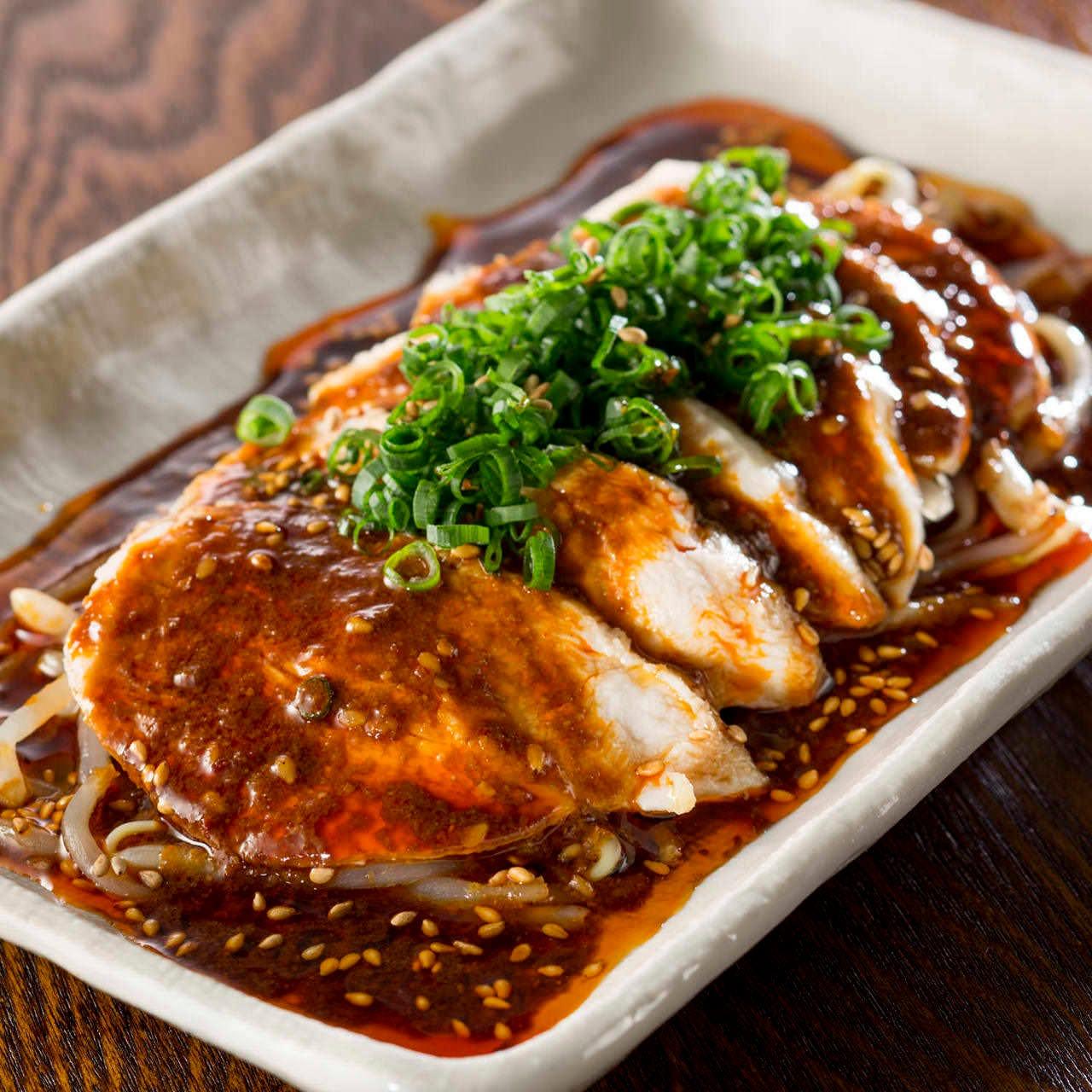地鶏のよだれ鶏 特性麻辣醤油ダレ
