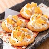 安納芋甘納豆とクリームチーズ