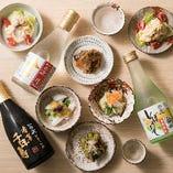日本酒は白鹿をご用意。しぼりたてや、吟醸生貯蔵酒、特撰本醸造酒など希少な造りをお楽しみください