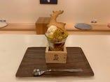 安納芋と紅茶ジュレのパフェ