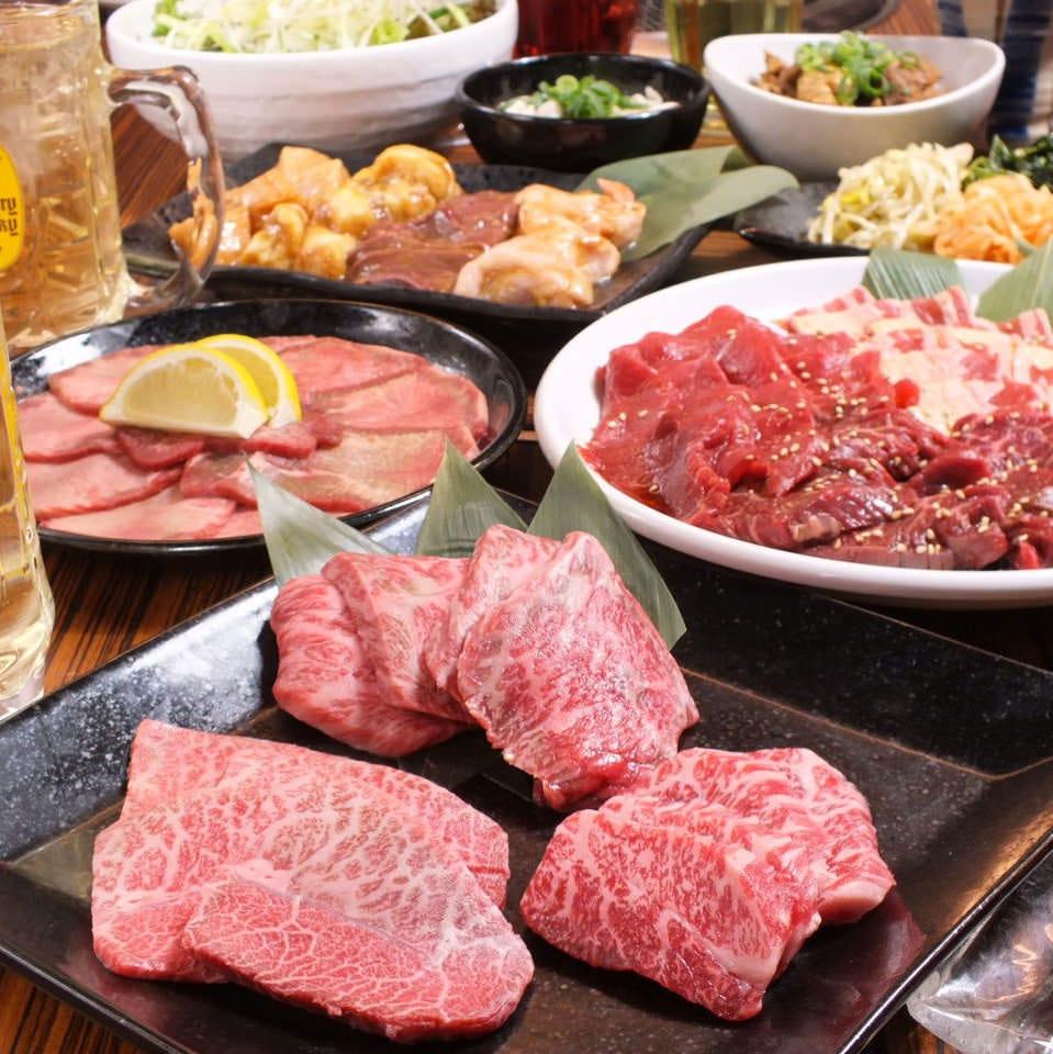 会社宴会に最適♪和牛焼肉3種 【 煌 】コース 料理21品(忘年会/宴会/接待)