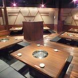 最大34名様まで座れるお座敷。焼肉宴会もがオススメ!
