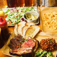【2時間制】柔らかくてジューシー!塊肉を満喫★『肉盛り&クラフトビール飲み放題コース』4,000円|宴会
