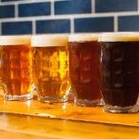 味わい色々!6種の自家製クラフトビールをご用意♪