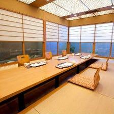 和の雰囲気を感じながら楽しめる個室