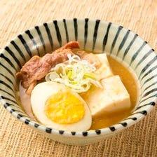 店舗で作るお豆腐を使った肉豆腐