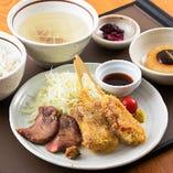 牛たん&牛たんコロッケ定食