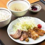仙台牛タンと宮城豚 網焼きカルビ定食