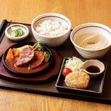 牛タンシチュー&コロッケ定食