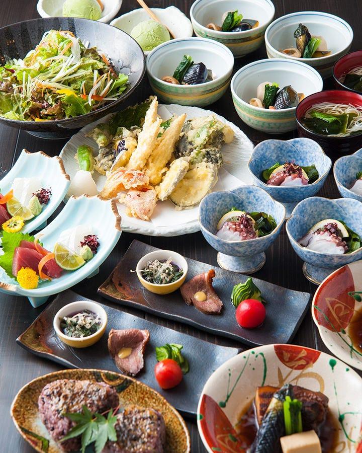 奈良地場産の食材を使った創作和食を堪能♪ お料理¥2.500~◎