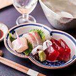 お造りに合う日本酒各種ございます