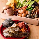 新鮮な食材を天麩羅や一品料理で