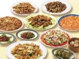 ●料理はボリューム満足の本格中華バイキング