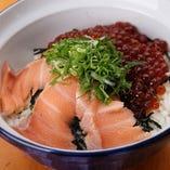 トロサーモンとイクラの海鮮親子丼