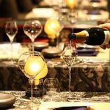 お料理ひと皿ひと皿とのワインペアリングのご提案もございます