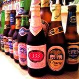 アジアの瓶ビール達