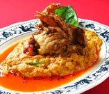 黄金カニカレー ~殻ごと食べられる蟹(ソフトシェルクラブ)使用