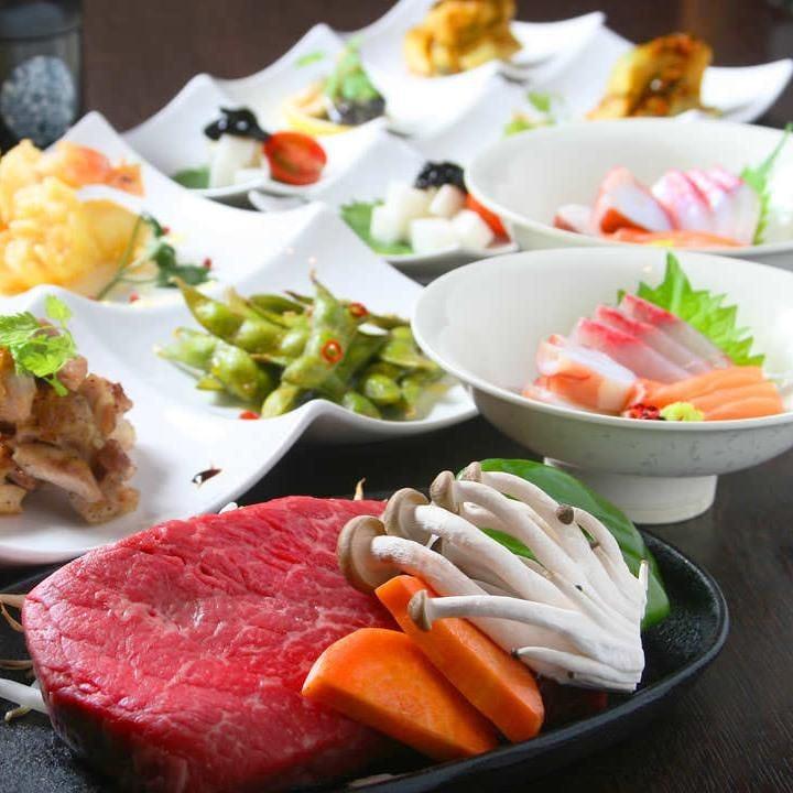 <個別で料理提供>千屋牛A5ステーキコース〈全7品〉宴会・飲み会・歓迎会・送別会・接待