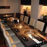 ■最大12名様のプライベート感を重視したテーブル席個室。