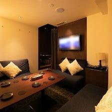 プライベート空間を楽しめる完全個室