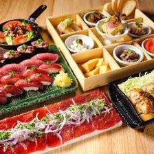 女子会×肉×寿司