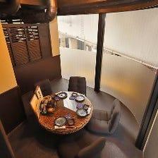 雰囲気のある完全個室席をご用意!