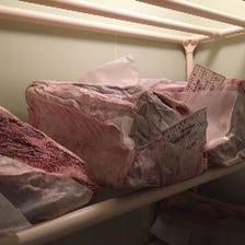 肉専用の冷蔵庫で管理