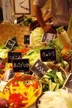 期間限定380円で生野菜蒸し野菜食べ放題!(定食セット価格)