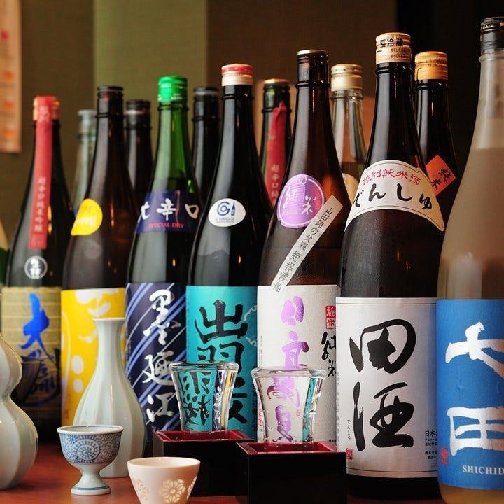 全国から仕入れたこだわりの日本酒