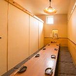 【掘りごたつ個室:5~12名様】各種宴会におすすめ!テーブルをぐるっと囲んで乾杯♪