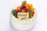 バースデーケーキ(生クリームデコレーションケーキ)【テイクアウト】