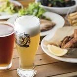 【食事】 ビールに合うおつまみからお食事まで幅広くご用意!
