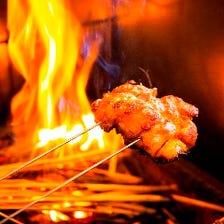 炭火焼きで閉じ込める肉・海鮮の旨み