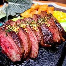 牛ハラミのグリルステーキ ~ガーリックグレイビーソース~